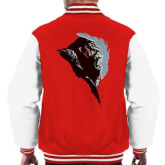 King Kong Rage Side View Brush Stroke Hombres's Chaqueta Varsity