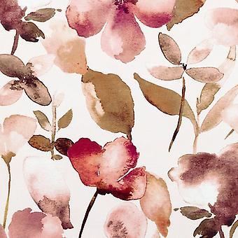 McAlister tekstiilit punastua vaaleanpunainen kukka sametti kangas näyte
