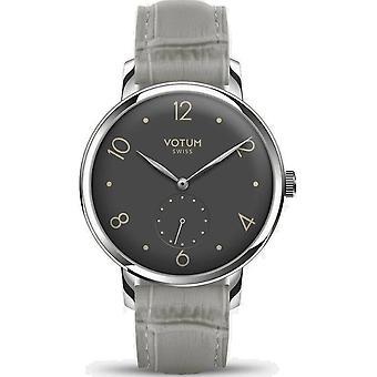 VOTUM - Reloj de señoras - VINTAGE SMALL - VINTAGE - V11.10.12.06 - correa de cuero - gris-marrón