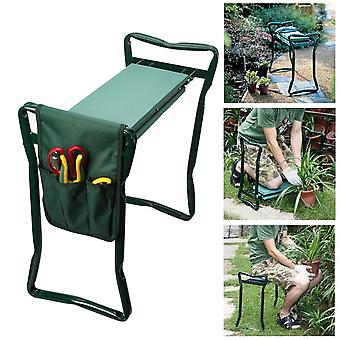 Folding Garden Chair Kneeler Seat Stainless Steel Garden Stool