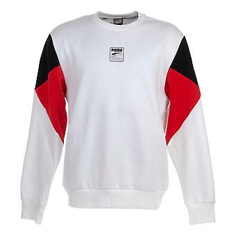 Puma Rebel Crew Petit Logo Sweater - Puma White