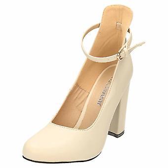 Koi Footwear High Block Heel Ankle Strap Court Shoes