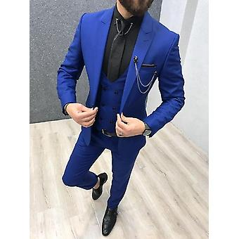 Men Suits Peaked Lapel