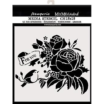 Stamperia Thick Stencil 18x18cm For You