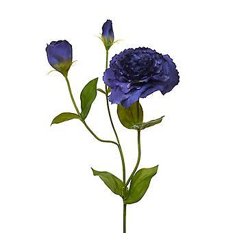 Sztuczna jedwabista gałąź Lisianthus 80 cm niebieski