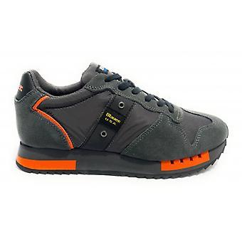 Shoes Blauer Sneaker Running Mod. Queens In Suede/ Dark Grey Fabric U21bu05