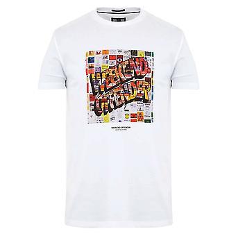 Weekend Offender 2107 Thrills Collage Flyers Graphic Print Half Sleeve T-shirt - White
