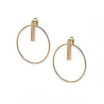 Vaihdettavat korva korut A54281-Croles Barette Strass PM Gold Rose Crystal