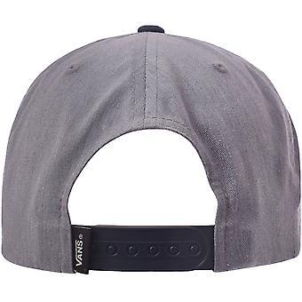 Vans בנים טיפה V II מזדמנים 6-פאנלים שטוח שיא סנאפבק כובע כובע - אפור / כחול