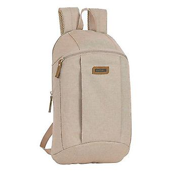 Casual backpack safta beige