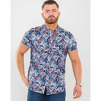 Duke Mens Malibu D555 Camisa de manga corta hawaiana
