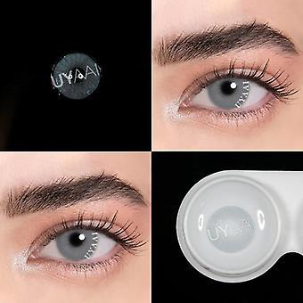 Vuosittain värilliset kauniit luonnolliset piilolinssit silmille kosmeettiset