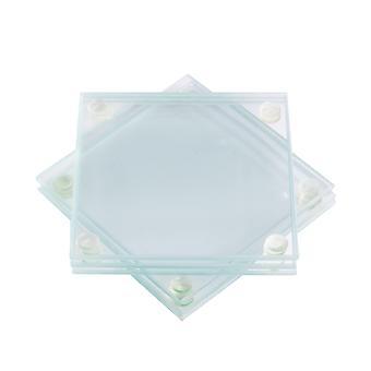 Glas untersetz - Set von 6 | M&W-Quadrat