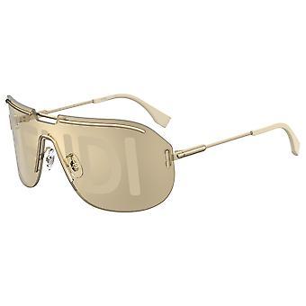 Fendi FF M0098/S 84E/64 Gold Beige/Gdl Dec Fc Sunglasses