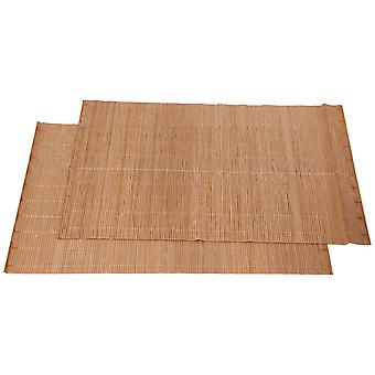 2x PVC Insulation Placemats Table Mat Coasters Pad Eco-friendly Bamboo Placemat