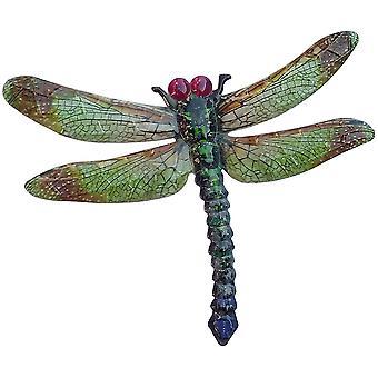 Primus suuri metallinen vihreä sudenkorenno kotipuutarhan seinälaatta