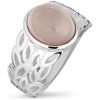 QUINN - Ring - Damer - Silver 925 - Ädelsten - Rosa Kvarts - Bredd 56 - 21053630