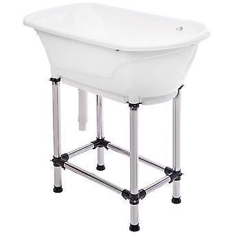 Groom Professional Small White Pet Grooming Bath - Perfect for Small Pets, 96cm