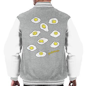 Gudetama El huevo perezoso tratando de dormir hombres's chaqueta varsity