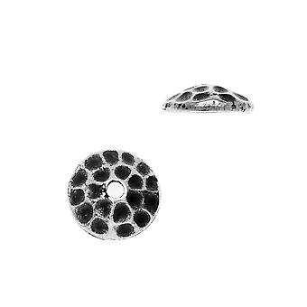 Berretto perline, Hammertone 7.5mm, 2 pezzi, Peltro anticato, Di TierraCast