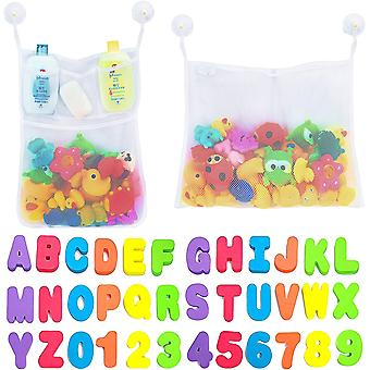 2 Bath Toy Organizer 4 Hooks And 36 Letters