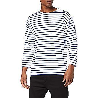 Armor Lux Beg Meil T-Shirt, Multicolored (Blanc/Etoile Dw5), Large (One Size: 4) Men's