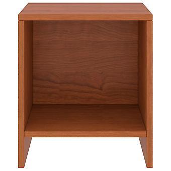 vidaXL comodino miele marrone 35x30x40 cm pino legno massello