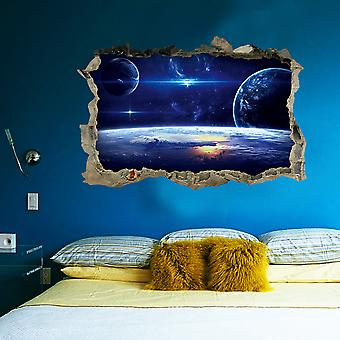 Regenboghorn Universe Star Fake Window Wall Decal Sticker