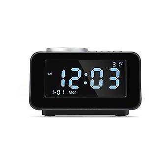 K6 réveil intelligent haut-parleur bluetooth haut-parleur stéréo sans fil portable écran lcd écran affichage température lecteur de musique