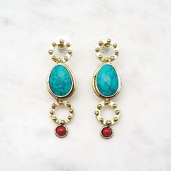 Boucles d?oreilles Niiki Paris - NCE152TC - Bleu Turquoise / Bleu - Collection Colors