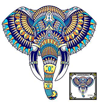 Children's Puzzles Animal Shapes Wood 3d Jigsaw Puzzle Elephant-shaped Children Puzzles Gifts