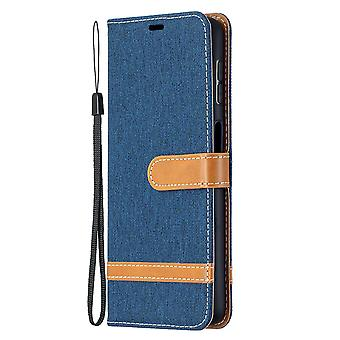 Folio Flip Cover Leather Case For Samsung Galaxy A32 4g Navy Jeans