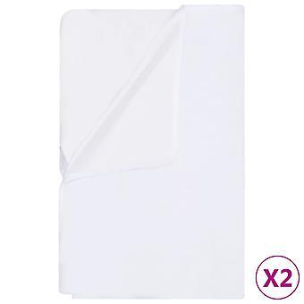 vidaXL mattress protector 2 pcs. Waterproof cotton 60x120 cm White