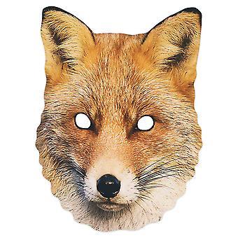 Fox 2D Animal Single Card Party Mask