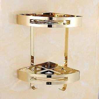 Luxury Crystal Silver Kylpyhuone Tarvikkeet Set Gold Kiillotettu Messinki Kylpy Laitteisto Set Seinä Asennettu