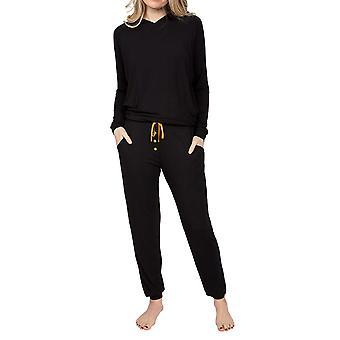 Cyberjammies Annie 4925 Women's Black Modal Hooded Pyjama Top