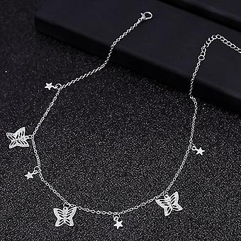 Small Animal Butterfly Stars Chain Necklaces Clavicle Jewelry Accessories(Style 4)