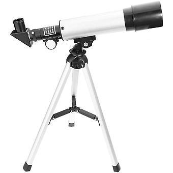 الفلكية تلسكوب التكبير 90X HD في الهواء الطلق تلسكوبات الفضاء أحادية الشكل المحمولة اكتشاف الانكسار نطاق مع ترايبود للمبتدئين للأطفال،(فضة)