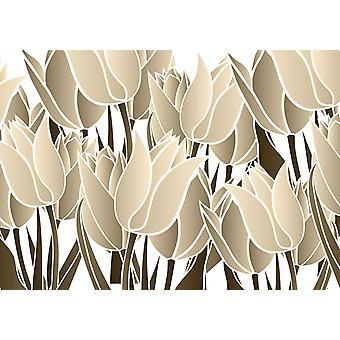 Tapetmaleri Blomstermønster