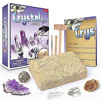 Crystal Mining Kit Archéologie Biologie Creuser et fouiller les kits scientifiques pour enfants