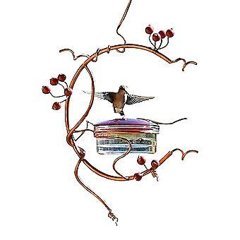 Parrot Bird Feeder Metal Home Garden Decor Retro Rustic Vintage Rainproof Windproof Hanging Feeder