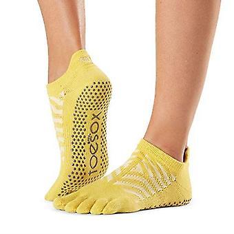 ToeSox Full Toe Low Rise Grip Sukat Barre Pilates Joogatanssi - Kanerva harmaa