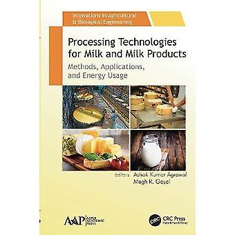 Tecnologías de procesamiento para aplicaciones de métodos de leche y productos lácteos y uso de energía