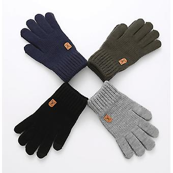 Mens Gloves Knitted Touch Screen Running Sports Winter Warm Adults Mittens Gifts