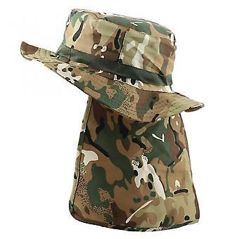 תינוק פעוט כובעים טקטי הסוואה כובע דלי כובע נפאלי צבאי צבאי גברים צבאיים הליכה כובע דיג עם דש uv upf50 +