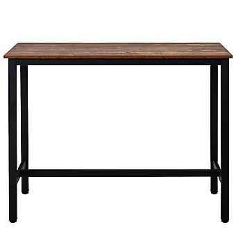 Bar, Industrial And Dining Table With Metal Frame