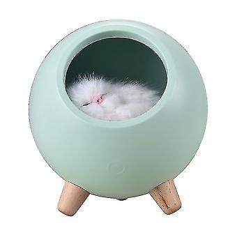 Kleine huisdier kat huis kleine nacht lamp bed led nachtlampje usb oplaadbaar