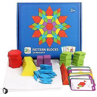 Sada 155 kusů ekologických kreativních dětských hádanek, karet a bloků, 3+