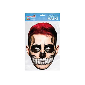Day of the Dead Red Zombie Male Single 2D Card Party Fancy Dress Mask