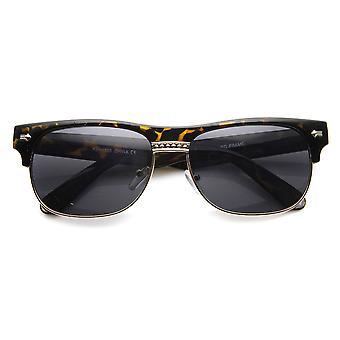 Clásico Oval Half Frame con borde del cuerno de las gafas de sol
